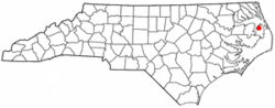 Location of Columbia, North Carolina