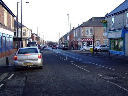 Stanhope Street in Arthur's Hill area is home to the North East's largest Asian community. NE-Arthur's Hill Stanhope Street 8965.JPG