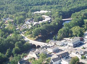 New England College - Aerial view of New England College and Henniker, New Hampshire