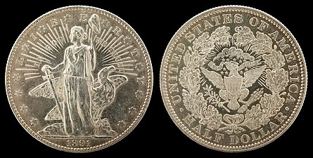 Barber's first obverse for the half dollar