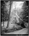 NORTH (FRONT) ELEVATION - St. John the Evangelist Episcopal Church, Dingmans Ferry, Pike County, PA HABS PA,52-DING,4-1.tif