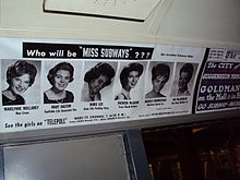 An advertisement for Miss Subways at the New York Transit Museum