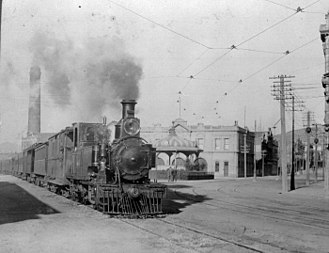 0-6-4 - NZR R class Locomotive on Jervois Quay, Wellington