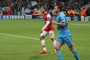 Nacho Monreal - Monreal marking Florian Thauvin during a Champions League match against Marseille in November 2013