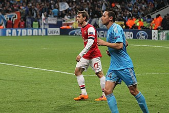Nacho Monreal - Monreal marking Florian Thauvin during a Champions League match against Marseille in November 2013