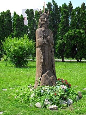 Árpád - Árpád's statue in Nagymegyer (Veľký Meder, Slovakia)