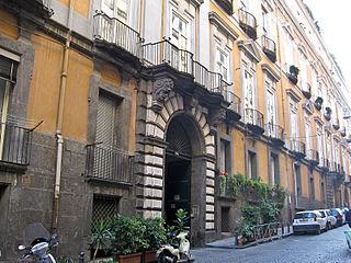 Palazzo Serra di Cassano building in Naples, Italy