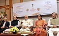Narendra Modi launches the Gold schemes, in New Delhi. The Union Minister for Finance, Corporate Affairs and Information & Broadcasting, Shri Arun Jaitley, the Minister of State for Finance, Shri Jayant Sinha.jpg