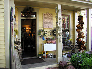 Nashville, Indiana - Entrance to a shop in the Bartley House