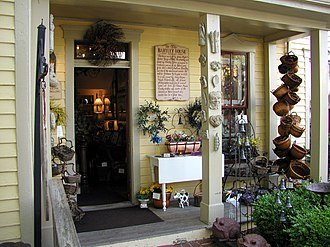 Nashville, Indiana - Entrance to a shop in the Bartley House