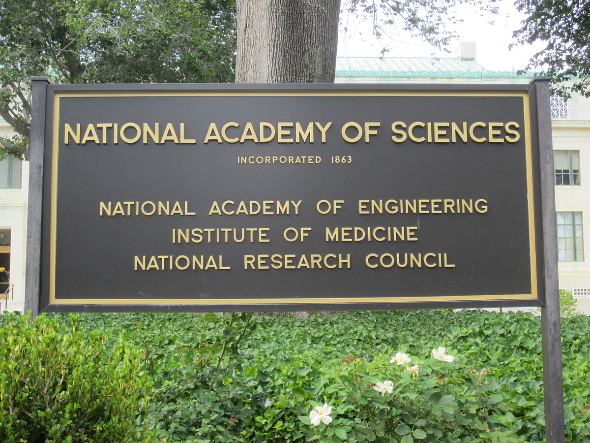 Sign at the National Academy of Sciences building, Washington, D.C.