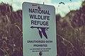 National Wildlife Refuge Sign - Unauthorized Entry Prohiibted (35396860331).jpg