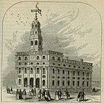 The original Nauvoo Temple of the Latter-day Saint movement built in Nauvoo, Illinois.