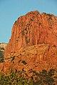Navajo Sandstone at sunset (Lower Jurassic; northern Kolob Canyons, Zion National Park, Utah, USA) 14 (8423920985).jpg