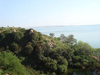 Navilatirtha - Image: Navila Teertha Dam (Malaprabha river)