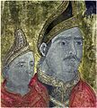 Neagoe Basarab si fiul sau Teodosie, frescă de la Mănăstirea Dionisiu - Muntele Athos.jpg