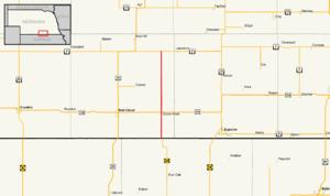 Nebraska Highway 78 - Image: Nebraska Highway 78 map