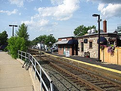 Needham Center MBTA station, Needham MA.jpg