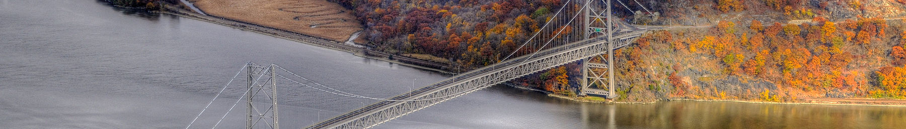 Bear Mountain Bridge over de Hudson rivier