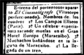 Newspaper clipping announcing the showing of films in Maracaibo, January 1897.png