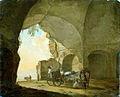 Nicolas de Fassin, Inspannen van paarden onder een arcade, 1768.jpg
