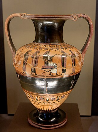 Nikosthenic amphora - Nikosthenic amphora, probably painted by the BMN Painter, circa 530 BC, Louvre.