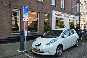 Electric vehicle - Nissan Leaf, the world's top-selling highway-capable electric car as of 2015