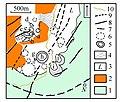 Nisyros; Carte des cratères hydrothermaux de la Plaine de Lakki.jpg