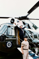 Nixon departs from the White House following his resignation of the Presidency