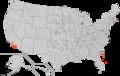 Nombre de parlants del català per comtat nord-americà (2000)-en.png