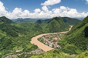 Ngoy District - Image: Nong Khiaw pano(1)