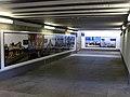 Nordtunnel des Freiburger Hauptbahnhofes mit internationalen Bahnhofsfotos.jpg