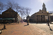 North Market (left) and Quincy Market (right)