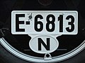 Norway license plate E6813.jpg