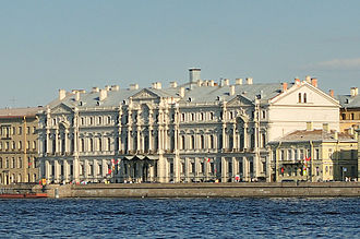 Institute of Oriental Manuscripts of the Russian Academy of Sciences - The Novo-Mikhailovsky Palace on Palace Quay, the home to the Institute of Oriental Manuscripts