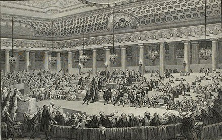 Meeting of the night of August 4, 1789 by Charles Monnet, (Musee de la Revolution francaise). Nuit du 4 aout 1789, Musee de la Revolution francaise - Vizille.jpg