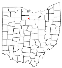 Location of Attica, Ohio