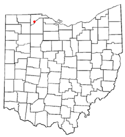 Location of Waterville, Ohio