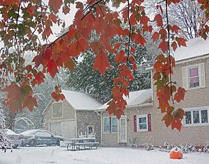 2011 Halloween nor'easter - Image: October 2011 snowfall, Walden, NY