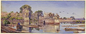 Chittor Fort - An 1878 painting