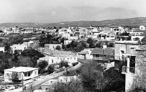 "An old Turkish Cypriot ""mahalle"" (quarter) in Paphos (1969)."