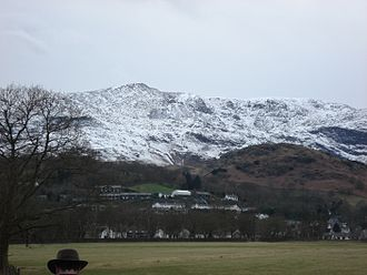 Old Man of Coniston - Old Man Coniston from Coniston Water lake side.