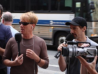 Opie and Anthony - Opie and Anthony walking to their XM studio from CBS Radio in New York City on July 25, 2006.