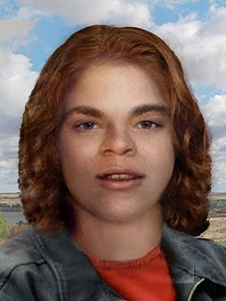 "Henry Lee Lucas - Reconstruction of ""Orange Socks"", which estimates how she may have looked when she was alive."