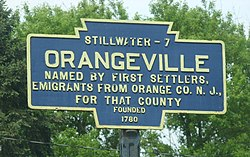 Official logo of Orangeville, Pennsylvania