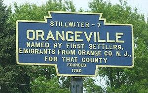 Orangeville, Pennsylvania - Image: Orangeville, PA Keystone Marker