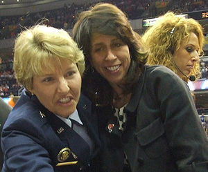 Donna Orender - Donna Orender (center) in 2007