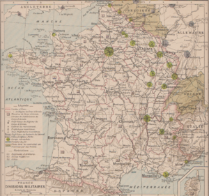 Plan XVII - Image: Organisation militaire françaises 1907