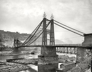 Point Bridge (Pittsburgh) - The original Point Bridge