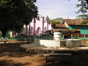 Orocuina - Main plaza in Orocuina, Honduras